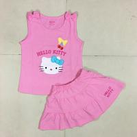 Bộ váy thun bé gái thêu hello kitty - Cung cấp quần áo trẻ em xuất khẩu